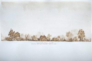 Wald, Schnee, Nebel
