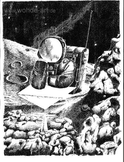Astronaut, Kosmonaut, auf dem Mond