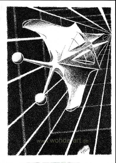 Raumschiff im Weltraum