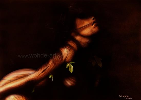 Pinoccia Frau aus Holz