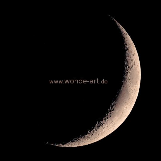 Mondsichel zunehmend