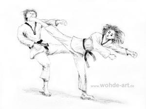 Taekwondo momdollyo chagi